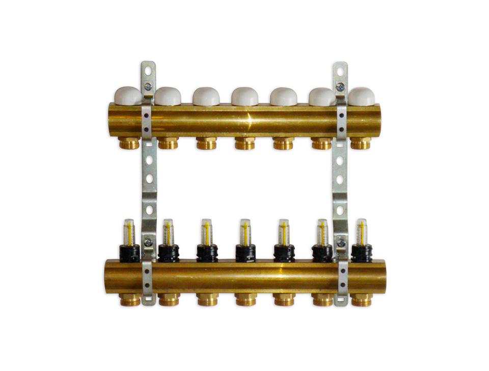 Collettori a barra in ottone da 1 per impianti a for Quotazione barra ottone