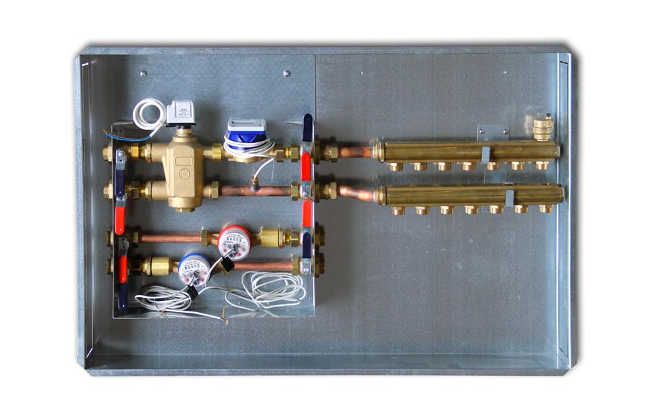 Modulo per riscaldamento centralizzato e collettori di - Collettori per riscaldamento a pavimento ...